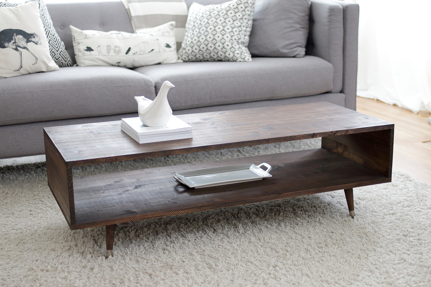 Build your own mid century modern coffee table for 60 bay on a coffee table geotapseo Gallery