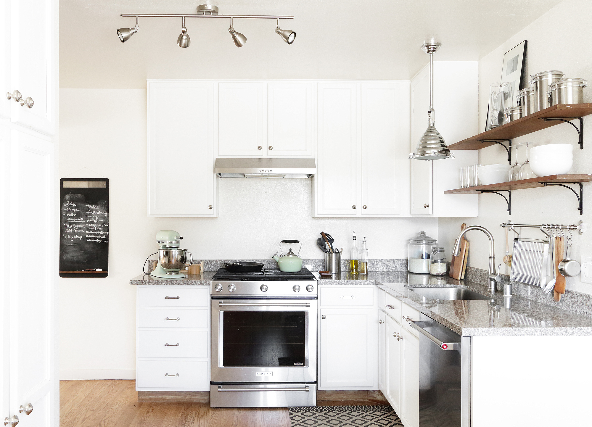 My Small Kitchen Before and After | BAY ON A BUDGET