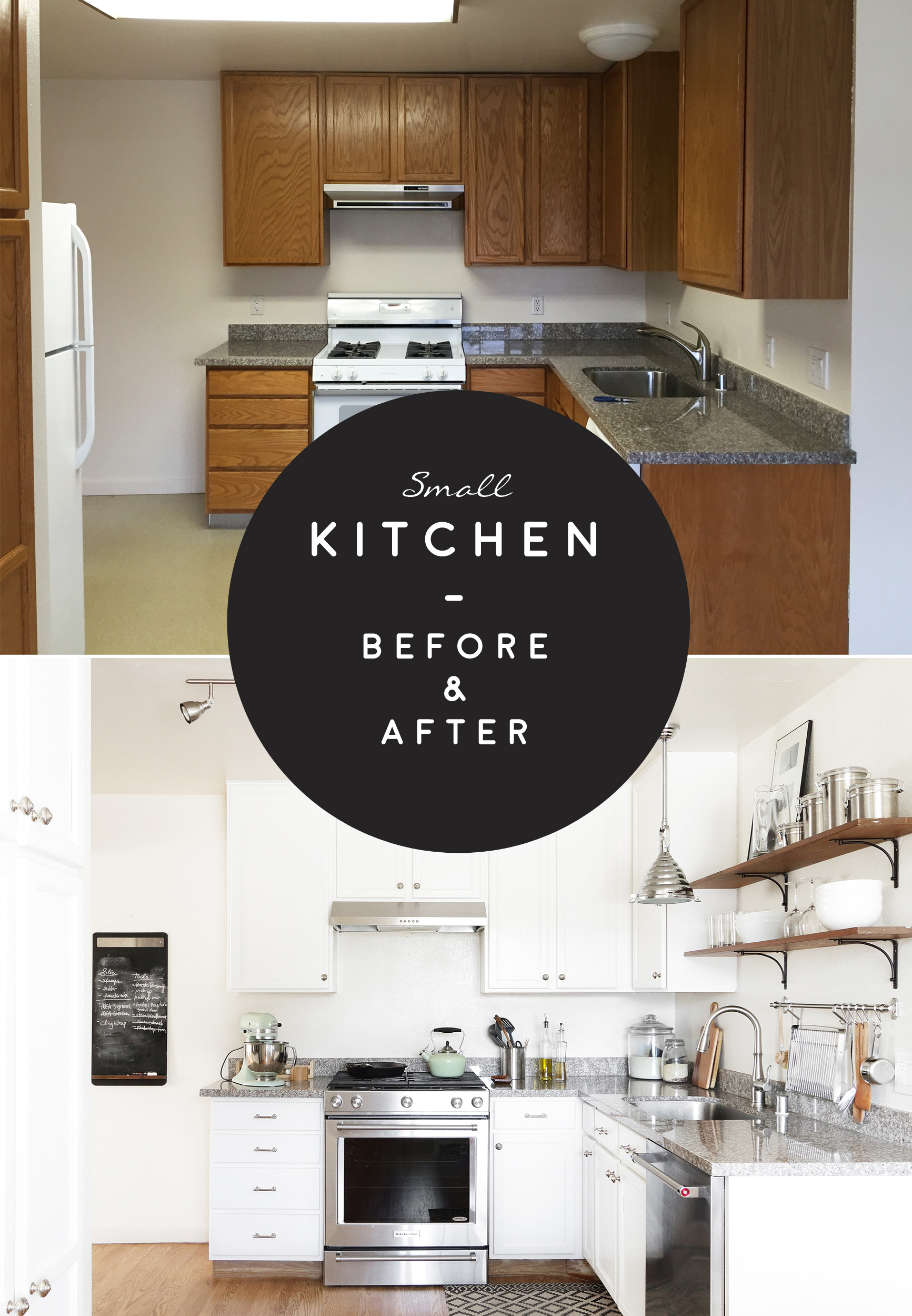 Before And After Small Kitchen: My Small Kitchen Before And After