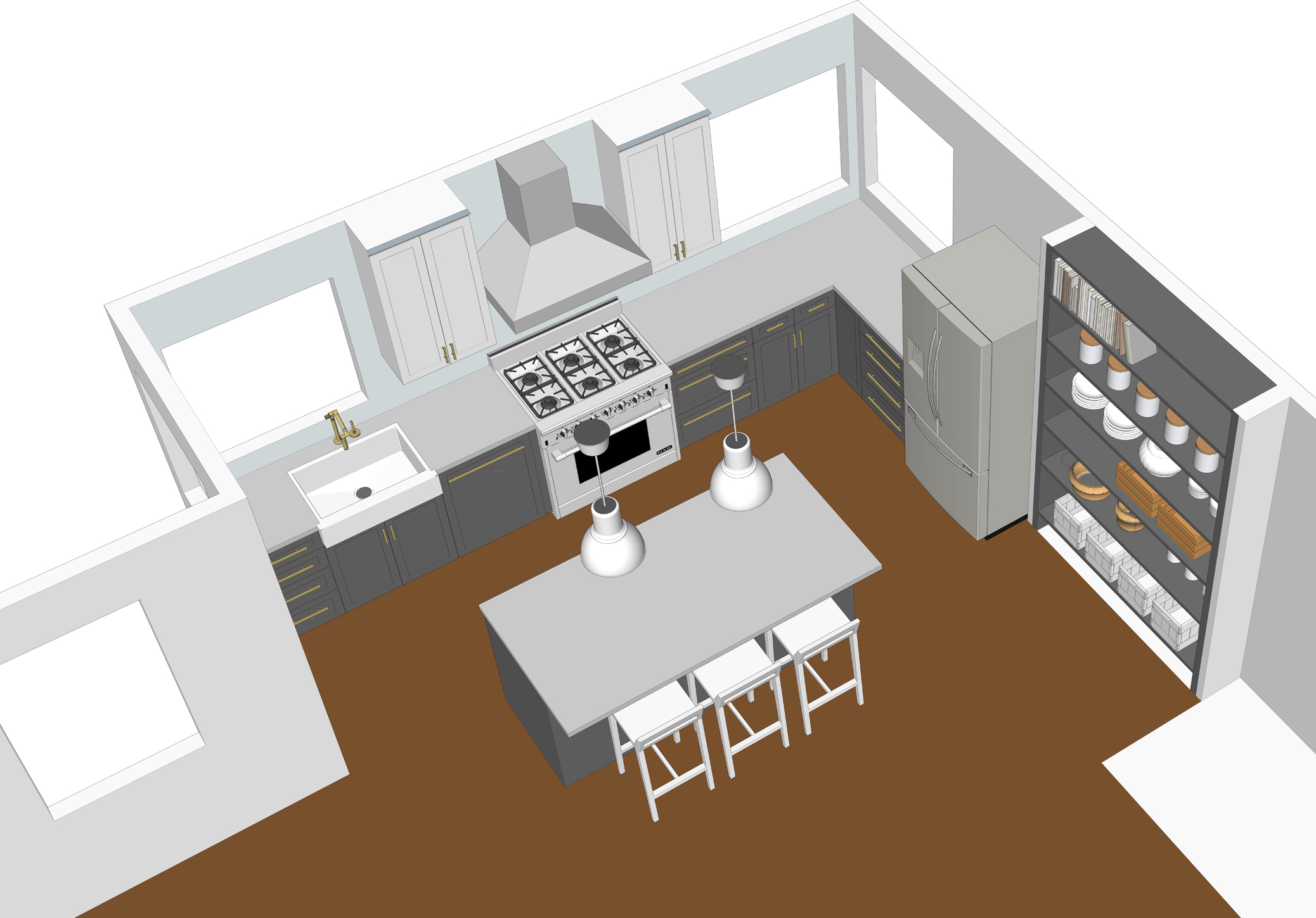Using google sketchup to design a kitchen bay on a budget - Cool free kitchen planning software making the designing phase easier ...