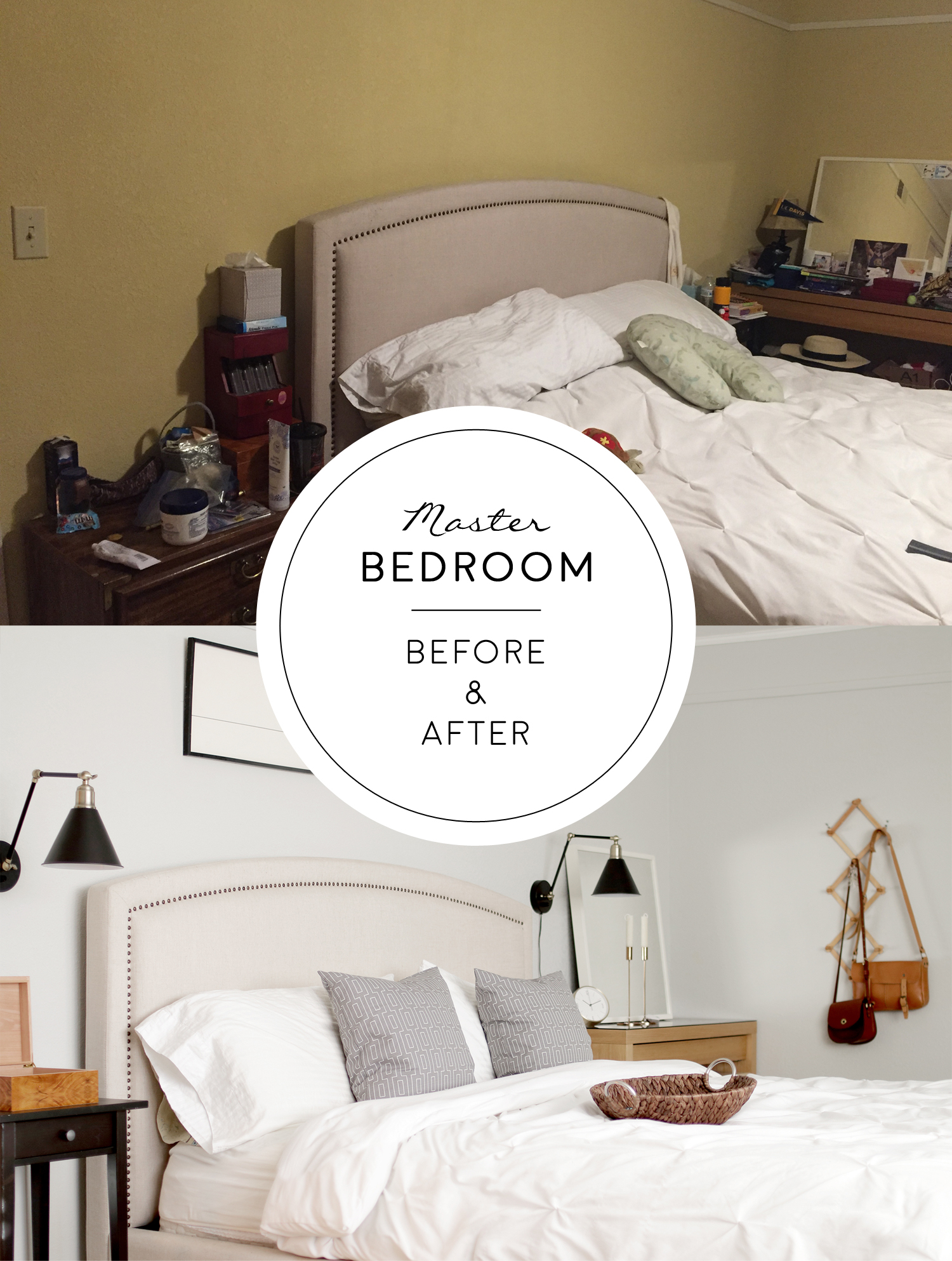 wong master bedroom before and after